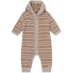 Miniature Romper Alver Romper - Light Brown Melange
