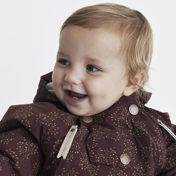 Miniature Snowsuit Wisti Snowsuit - Winetasting Plum Print
