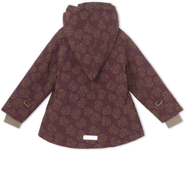 Miniature Winter Coat Wang Winter Jacket - Winetasting Plum Print