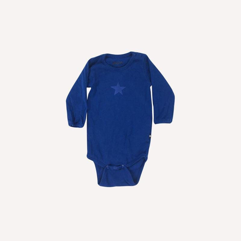 Molo Onesie 3-6m / Like New Re-Cycle Graphic Blue Onesie