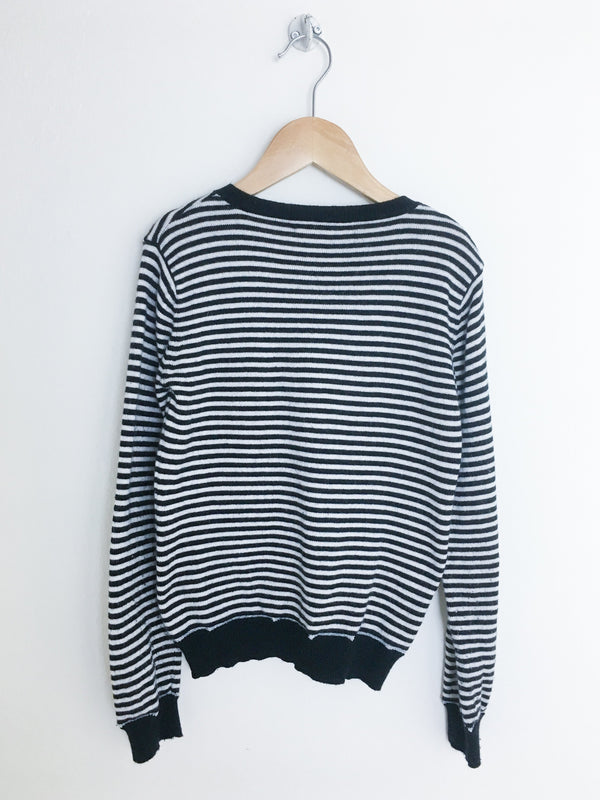 Monoprix Sweaters 8y / Gently Used Re-Cycle Striped Knit Cardigan