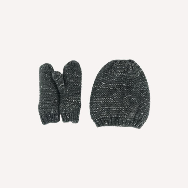 Monoprix Winter Acc 3-6T / Preloved Re-Cycle Hat and Mitten Set