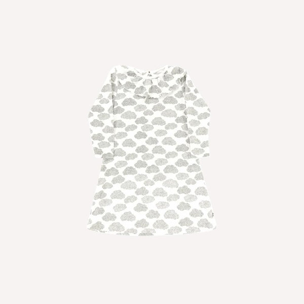 Moumout Dress 6y / Preloved Re-Cycle Patterned White Dress