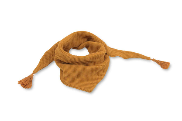 Moumout' Paris Accessories One-Size / Mustard Kid's Scarf with Pompons