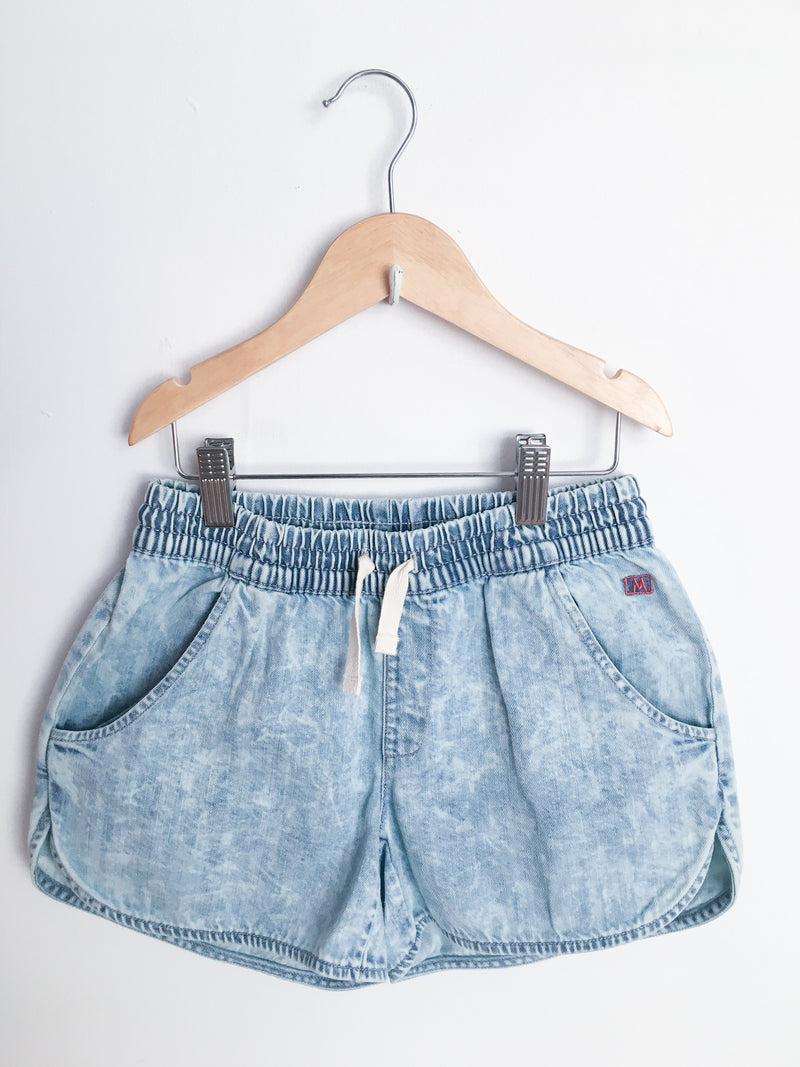 Munster Kids Bottoms 8y / New with Tag Re-Cycle Denim Stone Washed Shorts