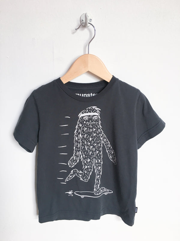 Munster Kids Tops + Bodysuits 3T / Gently Used Re-Cycle Black Yeti T-Shirt