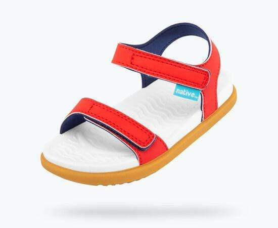 Native Sandals Charley Sandals - Torch Red / Shell White / Toffee Brown