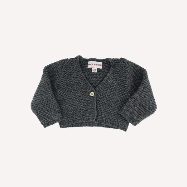 Neck & neck Cardigan 0-3m / Like New Re-Cycle Solid Grey Cardigan