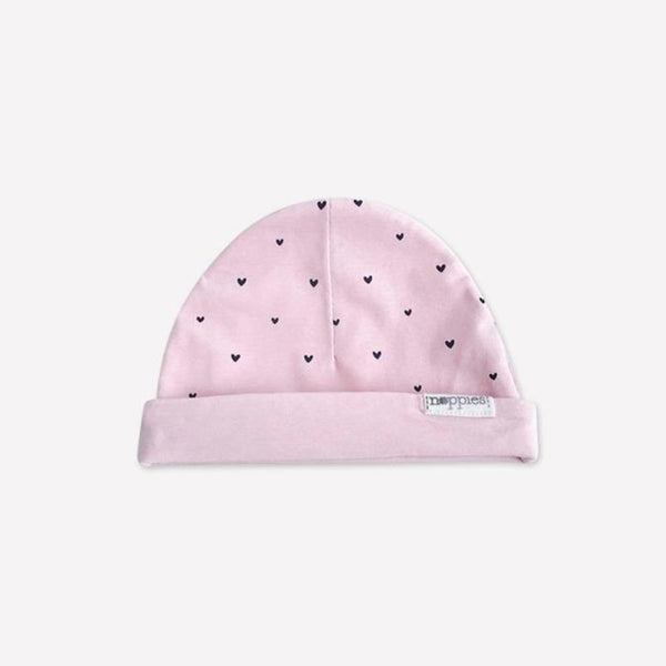 Noppies Beanie 0-3m / Like New Re-Cycle Patterned Pink Beanie