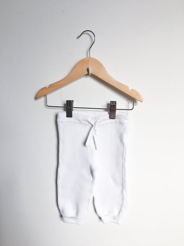 Noppies Bottoms 3-6m / Gently Used Re-Cycle White Knit Pants