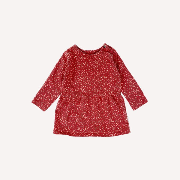 Noppies Dress 2-4m / Preloved Re-Cycle Patterned Red Dress