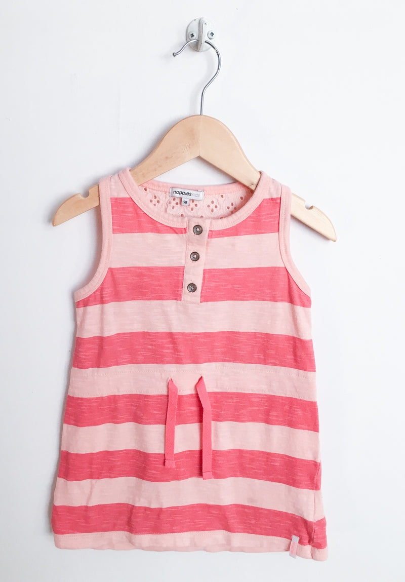 Noppies Dresses + Skirts 2T / Like New Re-Cycle Striped Peach Dress