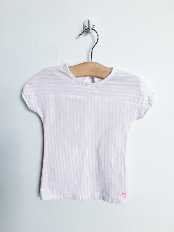 Noppies Dresses + Skirts 3-6m / Gently Used Re-Cycle Pink and White short sleeve dress