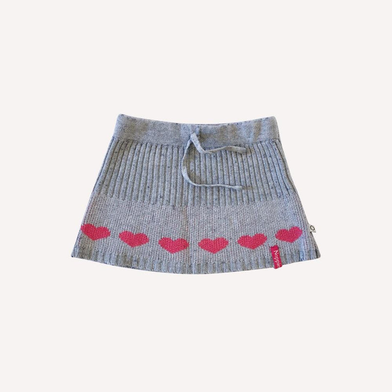 Noppies Skirt 18m / Preloved Re-Cycle Heart Patterned Grey Skirt