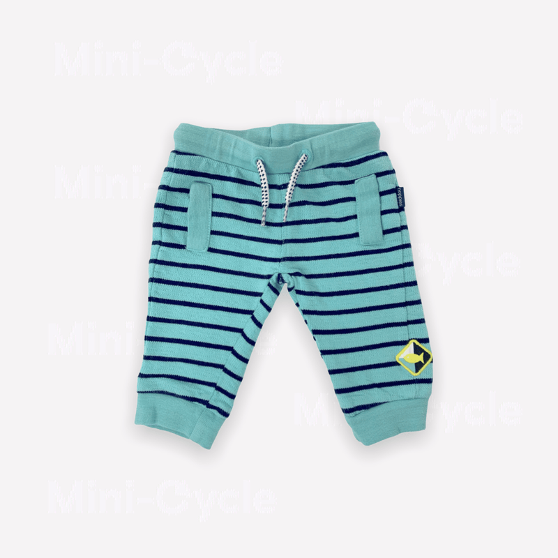 Noppies Sweatpants 3-6m / Preloved Re-Cycle Striped Turquoise Sweatpants