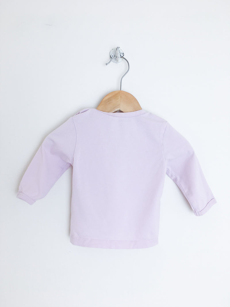Noppies T-Shirt 1-2m / Gently Used Re-Cycle Pink Long-Sleeve Baby Tee with Heart Graphic