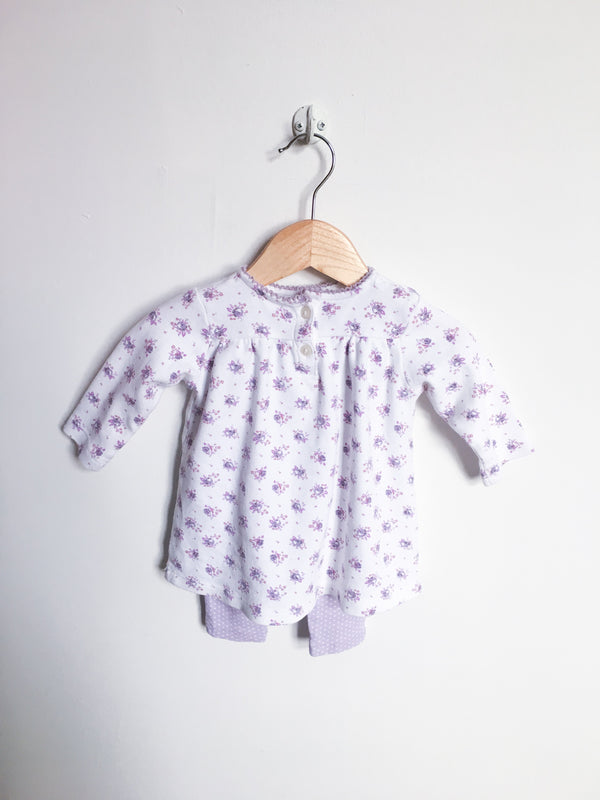Nordstrom Baby Sets 3m / Gently Used Re-Cycle Flower Print Two-Piece Set