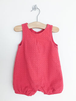 Obaibi Rompers 6m / Gently Used Re-Cycle Red Eyelet Baby Romper