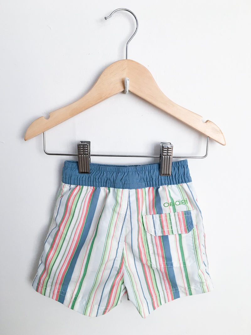 Obaibi Swimwear 6m / Gently Used Re-Cycle Striped Swim Trunks