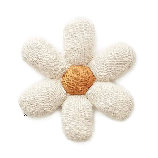 Oeuf Accessories O/S Daisy Pillow - White/Ochre