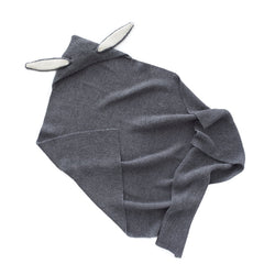 Oeuf Accessories One Size Bunny Blanket - Dark Grey