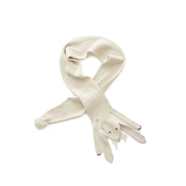 Oeuf Accessories One Size Bunny Scarf - White