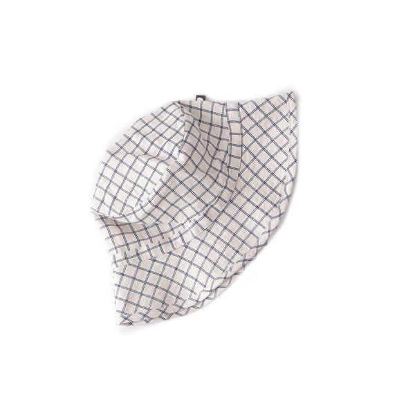 Oeuf Accessories One Size Kid Hat - Beige/Blue Checks