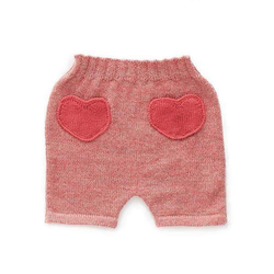 Oeuf Bottoms 3m Heart Shorts - Rose