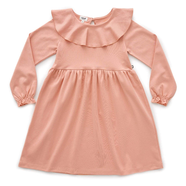 Oeuf Dress Ruffle Collar Dress - Peony