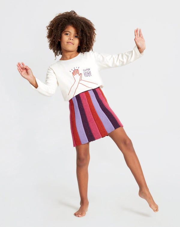 Oeuf Skirt Striped Skirt - Lilac