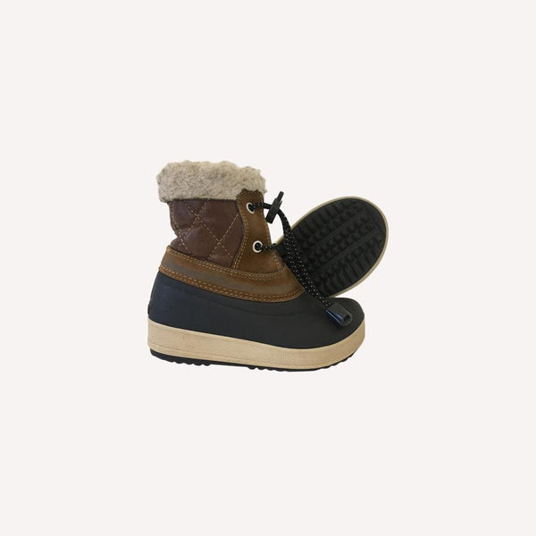 Olang Boots EUR 23-24 / Preloved Re-Cycle Sherpa Trim Boots - Brown and Black
