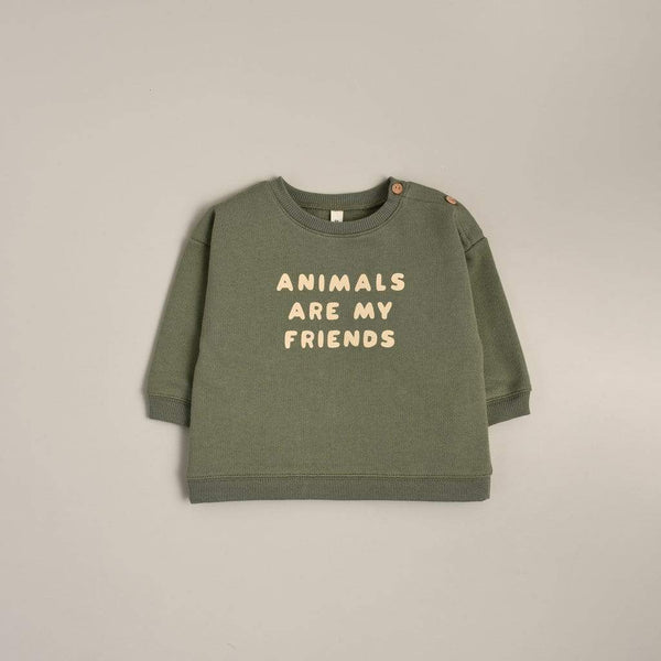 Organic Zoo Sweatshirt Animals Are My Friends Sweatshirt