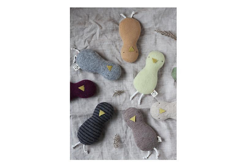 Ouistitine Toys Little Bird Rattle - Cashmere Tan