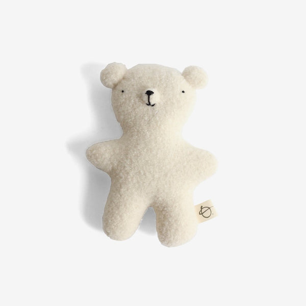 Ouistitine Toys Little Wool Bear - White