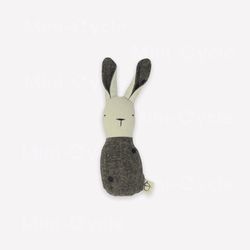 Ouistitine Toys One Size Bunny Rattle - Black Dots