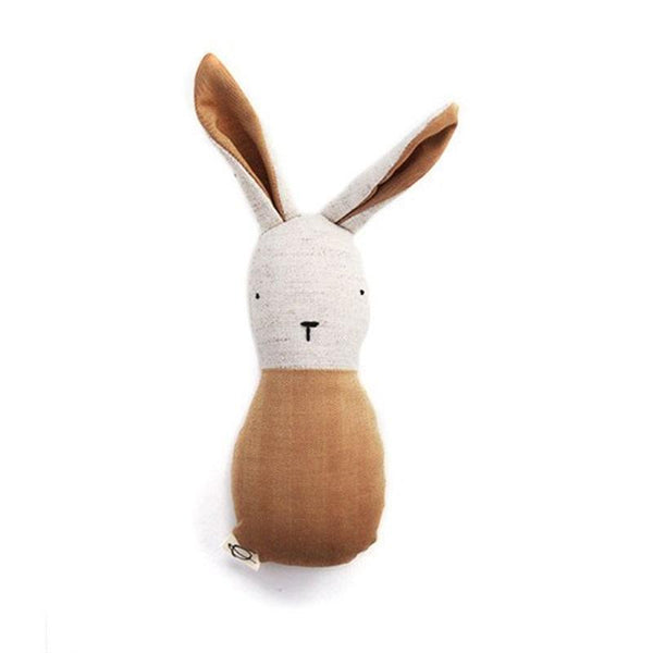 Ouistitine Toys One Size Bunny Rattle - Tan
