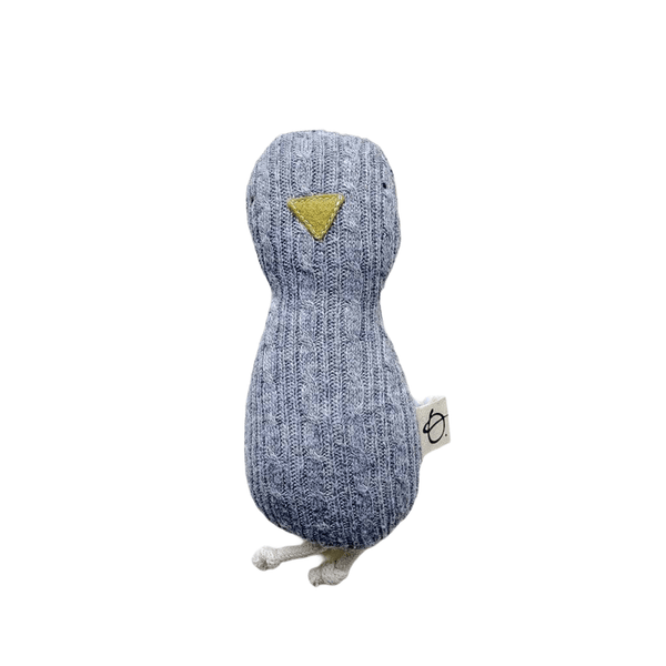 Ouistitine Toys One Size Little Bird Rattle - Grey Knit