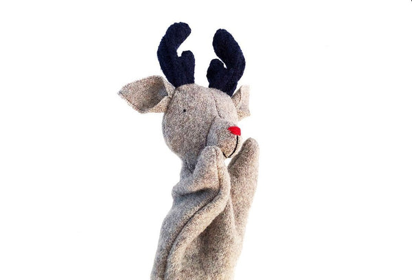 Ouistitine Toys Reindeer Puppet