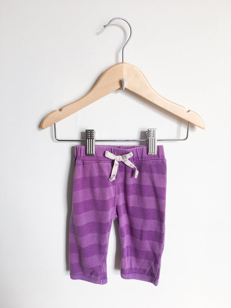Paige Lauren Bottoms 3-6m / Gently Used Re-Cycle Purple Striped Pants