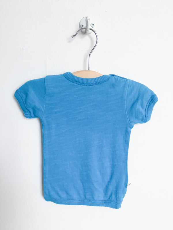 Paige Lauren Tops + Bodysuits 0-3m / Gently Used Re-Cycle Blue Tee