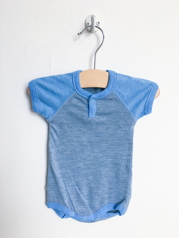 Paige Lauren Tops + Bodysuits 0-3m / Gently Used Re-Cycle Pink Blue Bodysuit