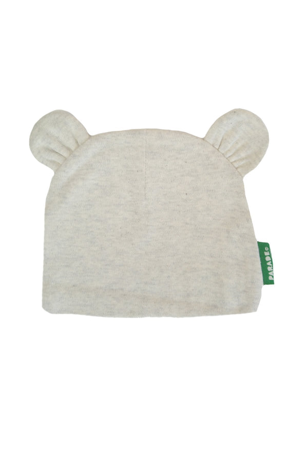 Parade Organics Baby Hats Grey Marl Baby Bear Hat