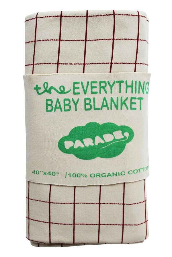 Parade Organics Blanket Everything Baby Blanket - Cranberry Plaid