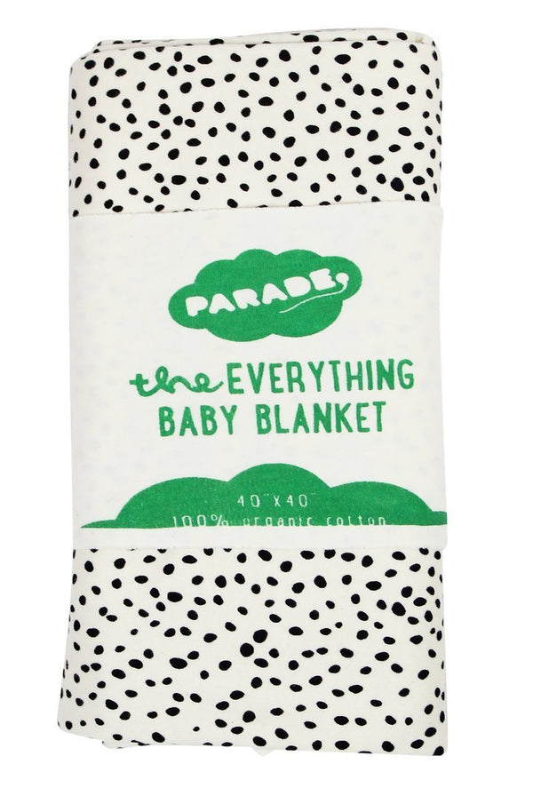 Parade Organics Blanket One Size Everything Baby Blanket - Black Pebble