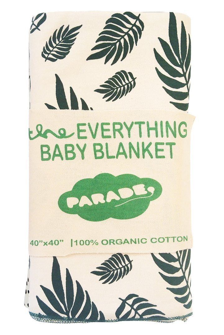 Parade Organics Blanket One Size Everything Baby Blanket - Green Leaves