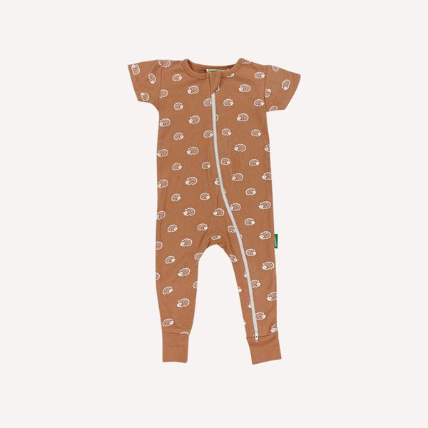 Parade Organics One-Piece 18-24m / Like New Re-Cycle Patterned Orange One-Piece