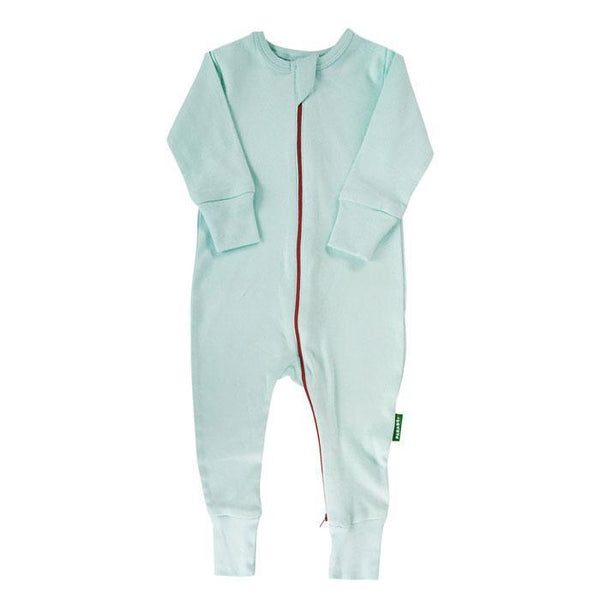 Parade Organics Pyjamas 6-12m Aqua '2-Way' Zipper