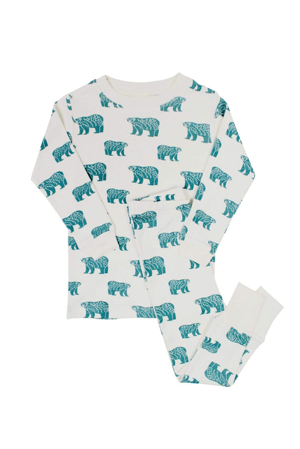 "Parade Organics Pyjamas ""My Jammies"" Organic Kids Pajamas - Blue Bears"