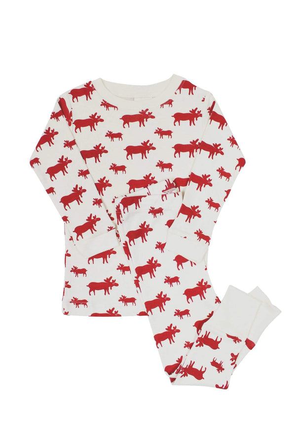 "Parade Organics Pyjamas ""My Jammies"" Organic Kids Pajamas - Natural Moose"