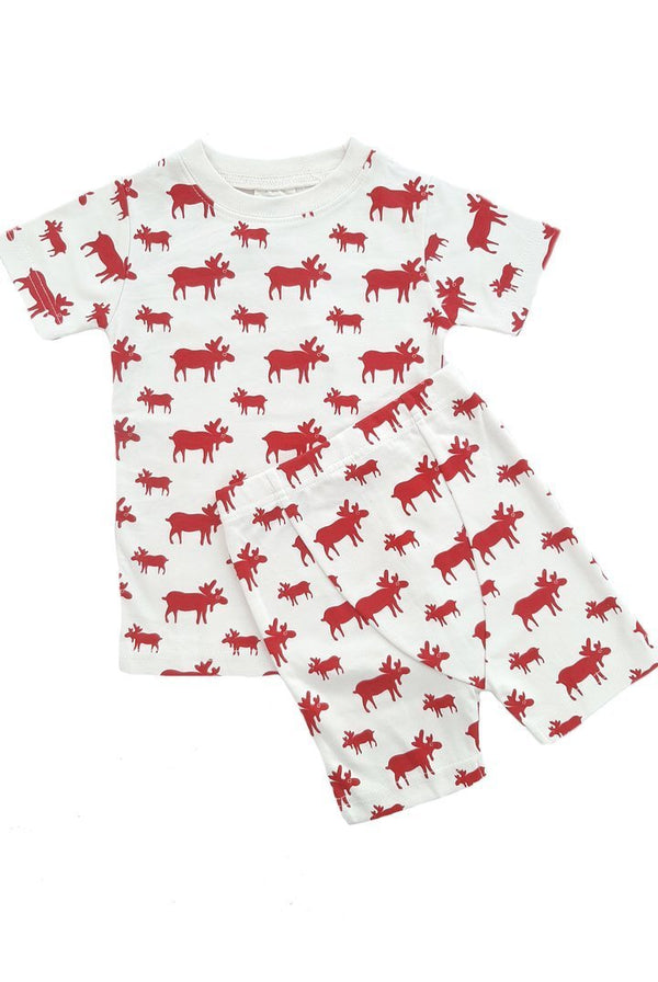"Parade Organics Pyjamas ""My Jammies"" Organic Kids Summer Pajamas - Red Moose"
